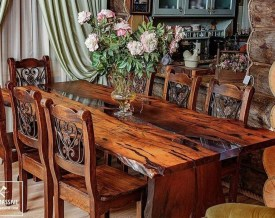Impressive Home Furniture Ideas With Resin Wood Table 13