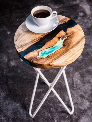Impressive Home Furniture Ideas With Resin Wood Table 23