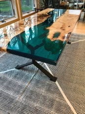 Impressive Home Furniture Ideas With Resin Wood Table 42