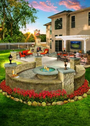 Newest Backyard Fire Pit Design Ideas That Looks Great 08