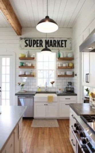 Trendy Fixer Upper Farmhouse Kitchen Design Ideas 27