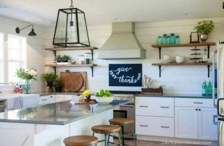 Trendy Fixer Upper Farmhouse Kitchen Design Ideas 40