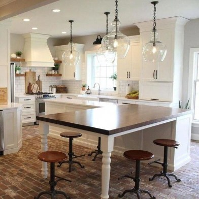 Trendy Fixer Upper Farmhouse Kitchen Design Ideas 45