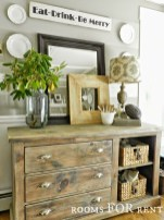 Awesome Dining Room Buffet Table Décor Ideas11
