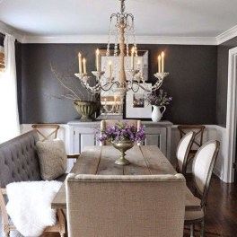 Awesome Dining Room Buffet Table Décor Ideas27