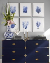 Beautiful Navy Blue And Coral Bedroom Decor42
