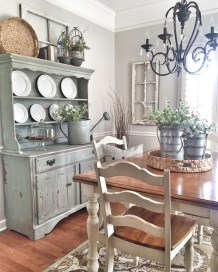 Gorgeous Dining Room Hutch Décor Ideas06