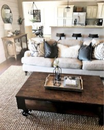 Awesome Living Room Design Ideas With Farmhouse Style14
