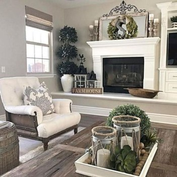 Awesome Living Room Design Ideas With Farmhouse Style29