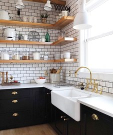 Best Ideas For Black Cabinets In Kitchen45