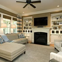 Impressive Living Room Ideas With Fireplace And Tv23