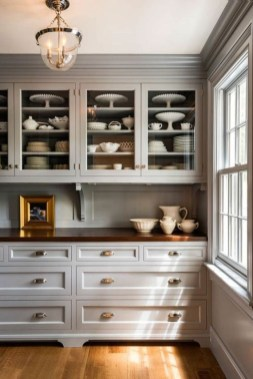 Incredible Farmhouse Gray Kitchen Cabinet Design Ideas07