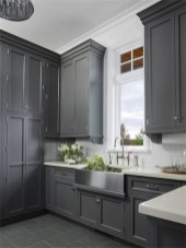 Incredible Farmhouse Gray Kitchen Cabinet Design Ideas11