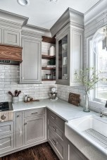 Incredible Farmhouse Gray Kitchen Cabinet Design Ideas12