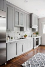 Incredible Farmhouse Gray Kitchen Cabinet Design Ideas13