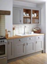 Incredible Farmhouse Gray Kitchen Cabinet Design Ideas24