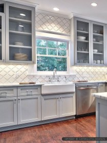 Incredible Farmhouse Gray Kitchen Cabinet Design Ideas25