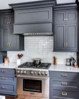 Incredible Farmhouse Gray Kitchen Cabinet Design Ideas30