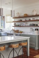 Incredible Farmhouse Gray Kitchen Cabinet Design Ideas31