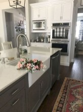 Incredible Farmhouse Gray Kitchen Cabinet Design Ideas36