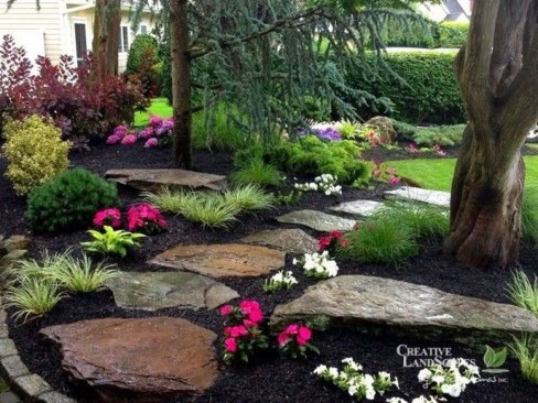 Cool Front Yard Rock Garden Ideas12