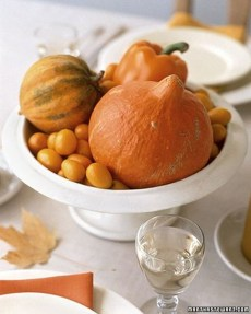 Lovely White And Orange Pumpkin Centerpieces For Fall And Halloween Table12