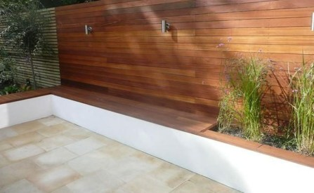 Perfect Diy Seating Incorporating Into Wall For Your Outdoor Space16