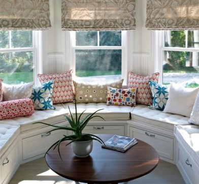 Stunning Window Seat Ideas With Padded Seat And Storage Below22