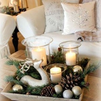 Adorable Christmas Decorations Apartment Ideas19