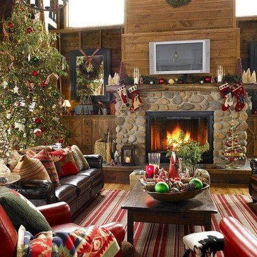 Awesome Vintage Christmas Living Room Decoration Ideas32