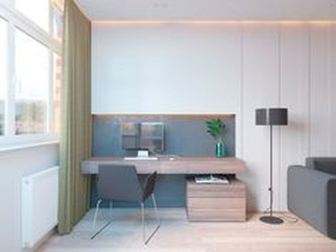 Comfy Home Office Design Ideas For Small Apartment05