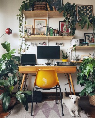 Comfy Home Office Design Ideas For Small Apartment30