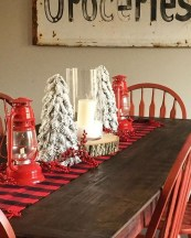 Cute Vintage Winter Table Decoration Ideas28
