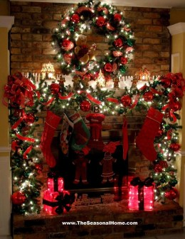 Incredible Christmas Mantel Decorating Ideas Budget36