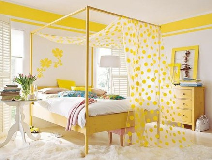 Perfect Yellow Bedroom Decoration And Design Ideas27