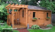 Awesome Shed Garden Plants Ideas17