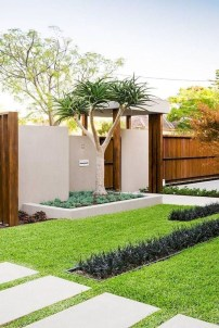 Comfy Low Maintenance Front Yard Landscaping Ideas41