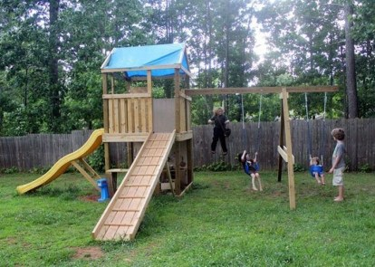 Wonderful Diy Playground Project Ideas For Backyard Landscaping35