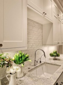 Captivating White Cabinets Design Ideas For Kitchen05