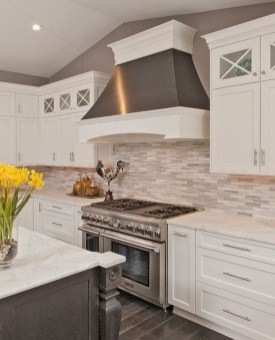 Captivating White Cabinets Design Ideas For Kitchen35
