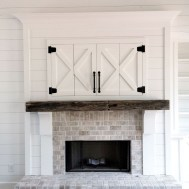 Modern Brick Fireplace Decorations Ideas For Living Room45