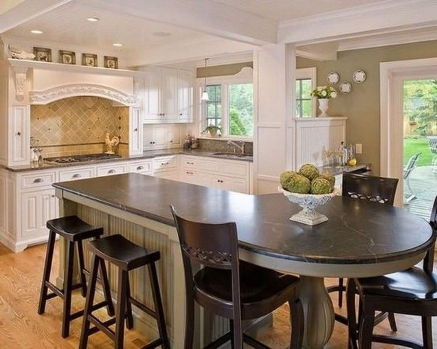 Stunning Kitchen Island Ideas With Seating36
