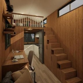 Rustic Tiny House Design Ideas With Two Beds37