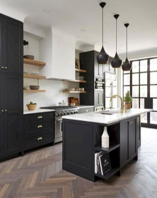 Elegant Black Kitchen Design Ideas You Need To Try07