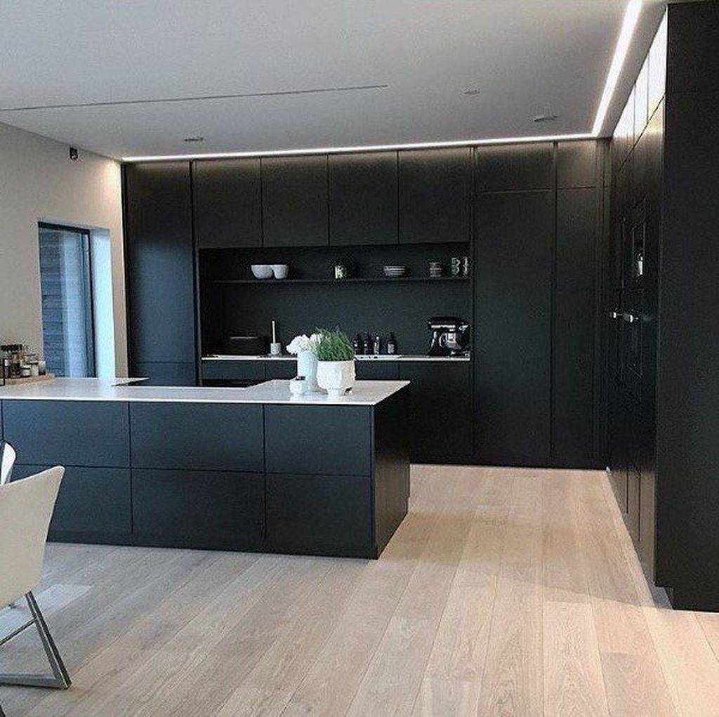 Elegant Black Kitchen Design Ideas You Need To Try23