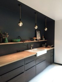 Elegant Black Kitchen Design Ideas You Need To Try31