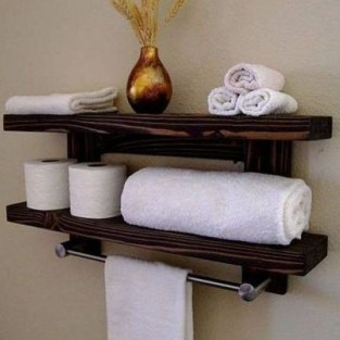Modern Bathroom Floating Shelves Design Ideas For You14