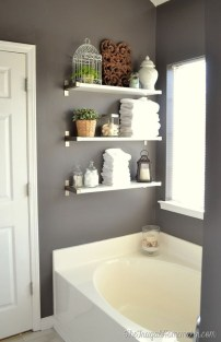 Modern Bathroom Floating Shelves Design Ideas For You16