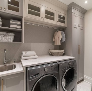 Cute Laundry Room Storage Shelves Ideas To Consider40