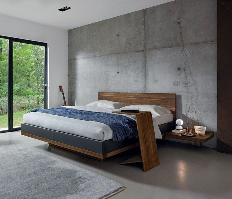 Casual Contemporary Floating Bed Design Ideas For You13